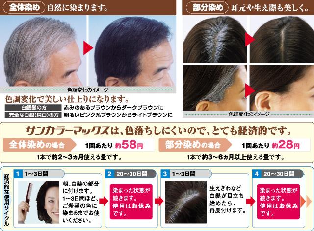 白髪染めヘアクリーム〈サンカラーマックス〉の概要